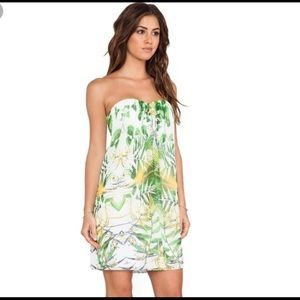 Alice + Olivia palm leaf print dress M